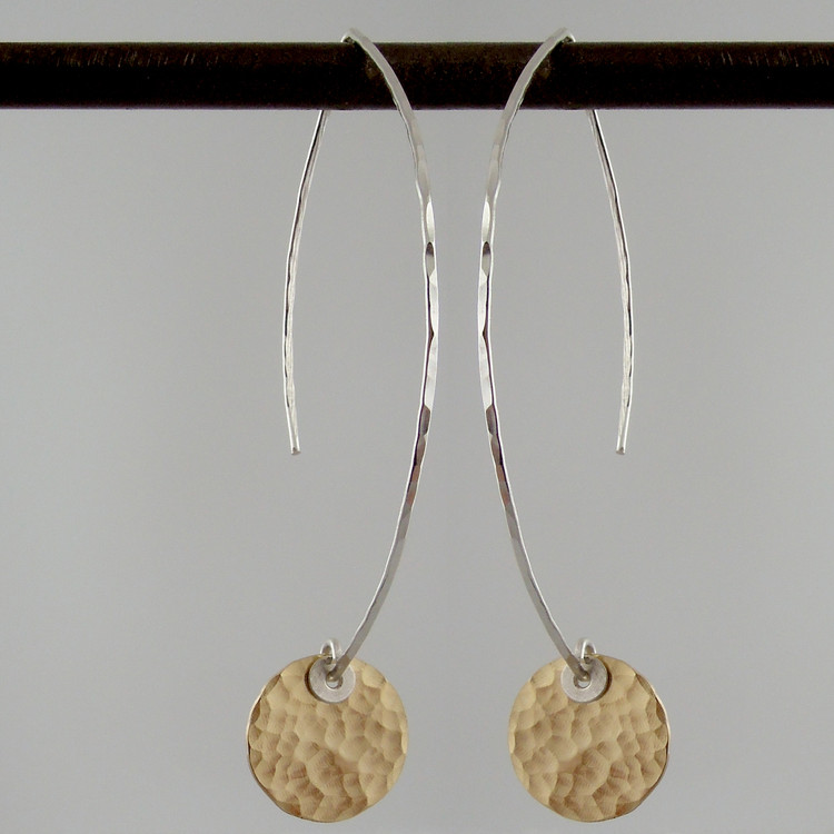 ARC disquette 2 pebble GF - earrings