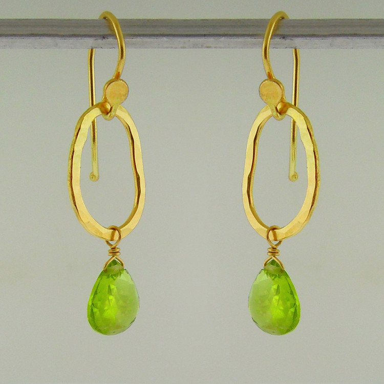 bling gem drop (wee) 18kt peridot