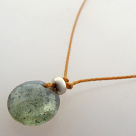 Moss Aquamarine Cutie Pie Necklace with sterling accents