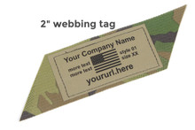 Whiskey Two Four Custom Printed Webbing Tags