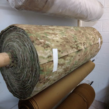 "Whiskey Two Four Multicam Printed 54"" wide Velcro loop, coyote brown and black loop per yard"