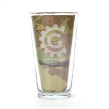 gearmaker.org Laser Engraved 16oz Glass