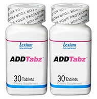 ADDTabz Mental Focus & Performance - 2 Bottles (60 Tablets Total)