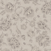 Honey Berries - Viney Floral Gray Tonal