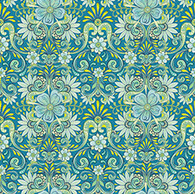 Lydia - Floral Flourish Aqua