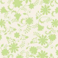 Lydia - Floral Vine LT GRN Tonal