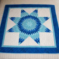 Blue Lone Star Quilt - Wall Hanging