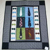 Shirts And Ties Quilt - Wall Hanging