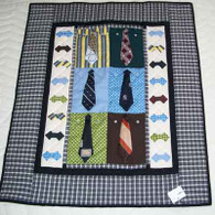 Shirts And Ties Wall Hanging Quilt