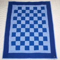Checkerboard Blue Quilt - Wall Hanging
