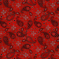 Rodeo Up - Western Design On Red