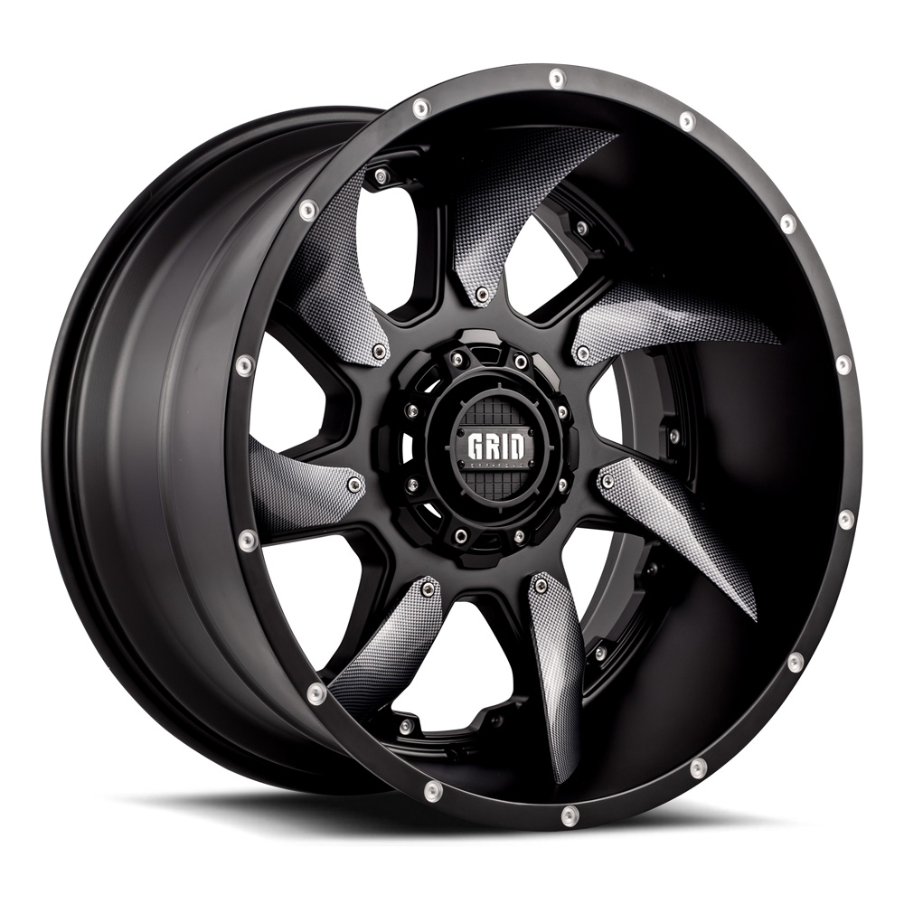 Grid Off-Road® GD1 Wheels & Rims - Black, Carbon Fiber ...