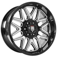 American Truxx AT151 Wheels Rims 20x9 Milled Black 8x6.5 (8x165.1) -12mm | AT151-20991M-12 | Free Shipping!
