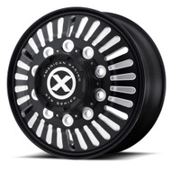 ATX Series Roulette OTR Semi Wheels Rims Black 22.5x8.25 10x285.75 90 | AO40322510901