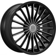 Kronik Kush 406 Wheels Rims Black Machined 22x8.5 5x4.5  5x120 40 | 4062281740MB