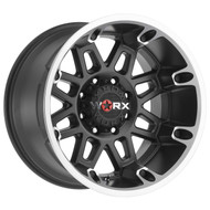 Worx 811U Conquest Wheels Rims Black Diamond Cut 18x9 8x6.5 -12 | 811-8981U12
