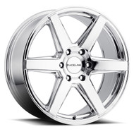Raceline Surge 156C 18x8 Wheels Rims Chrome 35 | 156C-88032+35