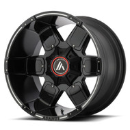 Asanti Offroad AB811 20x9 8x6.5 (8x165.1) Black Milled Wheels Rims -12 | AB811-20908012NBM
