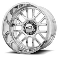 Moto Metal MO404 Wheel 24x12 5/6 Lug Custom Drilled BP Polished -44mm -FREE LUGS