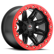 Vision UTV Five Five One 551 14X8 Black w/ Red Ring Wheels Rims 4x110 -10 | 551-148110MBR4