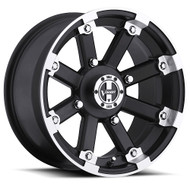 Vision UTV Lock Out 393 14X8 Machined Black Wheels Rims 5X4.5 (5X114.3) -10 | 393-148545MBML4