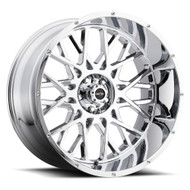Vision Rocker 412 24X12 Chrome Wheels Rims 8x6.5 (8x165.1) -51 | 412-24281C-51