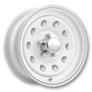 Pacer ® White Mod 55W Wheels Rims White 14X6 5x4.5 (5x114.3) 0 | 55W-4612-1