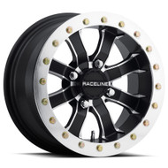 Raceline Utv ® Mamba Beadlock A71 Wheels Rims Black Machined 14x8 4x156 0 | A7148056-44