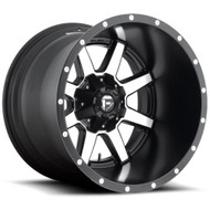FUEL MAVERICK WHEELS BLACK & MACHINED D537 20X12  5X5.0