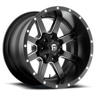 FUEL MAVERICK WHEELS BLACK & MILLED D538 20X12  6X135