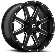 FUEL MAVERICK WHEELS BLACK & MILLED D538 22X9.5  6X135