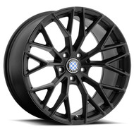 Beyern Antler 22x11 5x120 Matte Gloss Black Face 25 Wheels Rims | 2211BYL255120B72