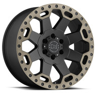 Black Rhino Warlord 17x8 6x130 Matte Black 52 Wheels Rims | 1780WAR526130M84