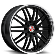 Victor Lemans 18x11 5x130 Black Mirror 52 Wheels Rims | 1811VIL525130B71