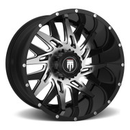 American Truxx DNA AT184 Wheel Black Machine Milled 22X12 8x170 -44mm - FREE LUGS - DISCOUNT IN CART