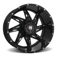 American Truxx Spyder AT183 Wheel Milled Black 20x10 5x5.5 (5x139.7) -24mm - FREE LUGS - DISCOUNT IN CART