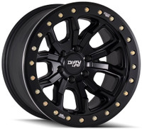 Dirty Life DT-1 9303 17x9 6x5.5 6x139.7 Matte Black -12 Wheels Rims | 9303-7983MB12