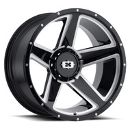 VISION EMPIRE WHEELS 22x11.5 8x180 - BLACK MILLED