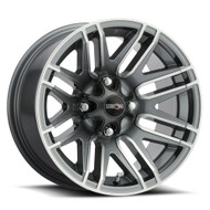 VISION UTV ASSAULT 112 WHEELS 14x8 4x156 - GUNMETAL GRAY MACHINE