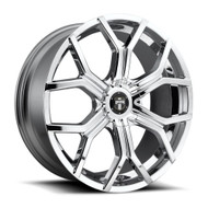 DUB ® Royalty Wheels Rims 24x9.5 6x135 & 6x5.5 (6x139.7) Chrome 30mm | S207249597+30