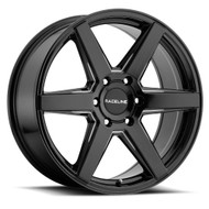 Raceline ® Surge Wheels Rims 16x6.5 6x130 Gloss Black 45mm | 156B-66563+45