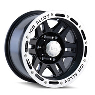 Ion Alloy 133 Black Wheels 16X8 5X139.7 -5 | 133-6885B