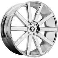 DUB Shot Calla 28x10 Wheels Chrome 6x5.5 (6x139.7) 30 | S120280077+30