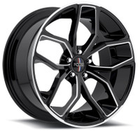 Foose Outkast Wheels 20x8.5 5x4.5 (5x114.3) Black 35mm | F150208565+35