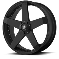 KMC Rockstar Car Wheels 22x8.5 5x4.5 & 5x120 Black 42mm | KM77522817742