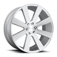 Dub ® 8-Ball S213 Wheel 26X10 Silver Brushed 6X5.5 30mm | S213260077+30