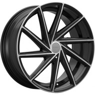 Kronik Insignia 408 Wheels Rims Black Machined 22x8.5 5x4.5  5x120 40 | 4082281740MB