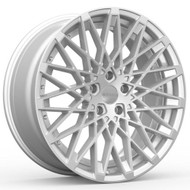 Rosso Skism 703 22x8.5 5x115 Machined Silver Wheels Rims 30 | 7032281515MS