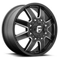 FUEL MAVERICK DUALLY WHEELS  20X8.25 8X210   FRONT 122 MM OFFSET  BLACK & MILLED