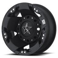 XD ROCKSTAR DUALLY WHEELS -  REAR 16X6 8X170.00  BLACK -94MM OFFSET